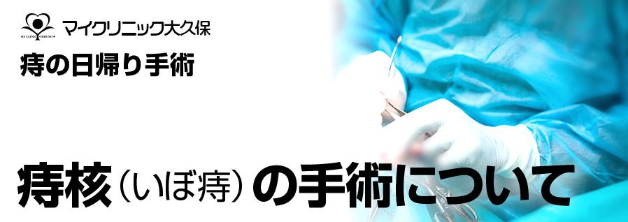 マイクリニック大久保の痔核・いぼ痔の手術について